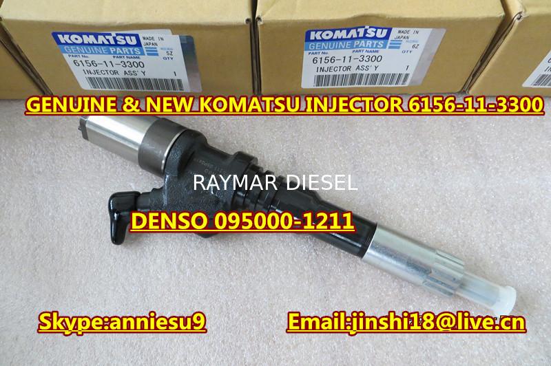 Denso Genuine & New Common Rail Injector 095000-1211 for Komatsu