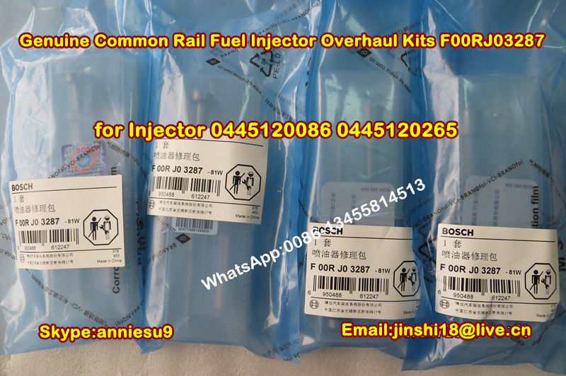 Bosch Original Common Rail Fuel Injector Overhaul Kits F00RJ03287 for Injector 0445120086