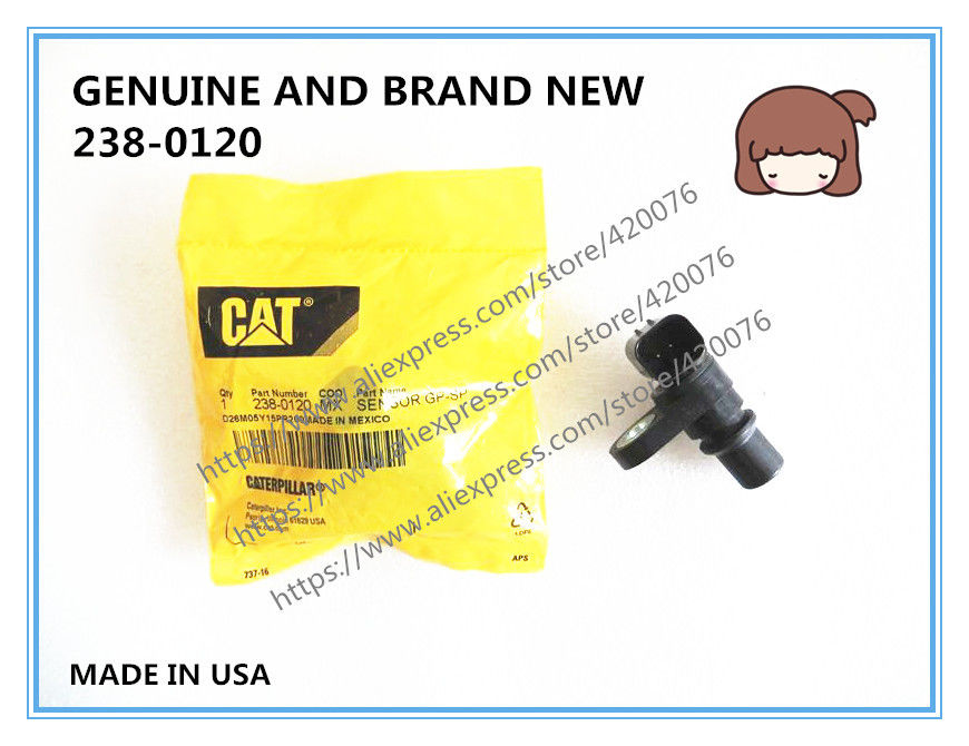 GENUINE AND BRAND NEW DIESEL FUEL RAIL PRESSURE SENSOR 238-0120 , 238-0120 ,238-0120 , D16M07Y14PR200