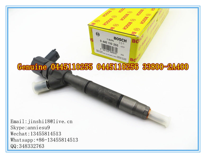 Bosch Genuine Common Rail Fuel Injector 0445110255 0445110256 for Hyundai 33800-2A400