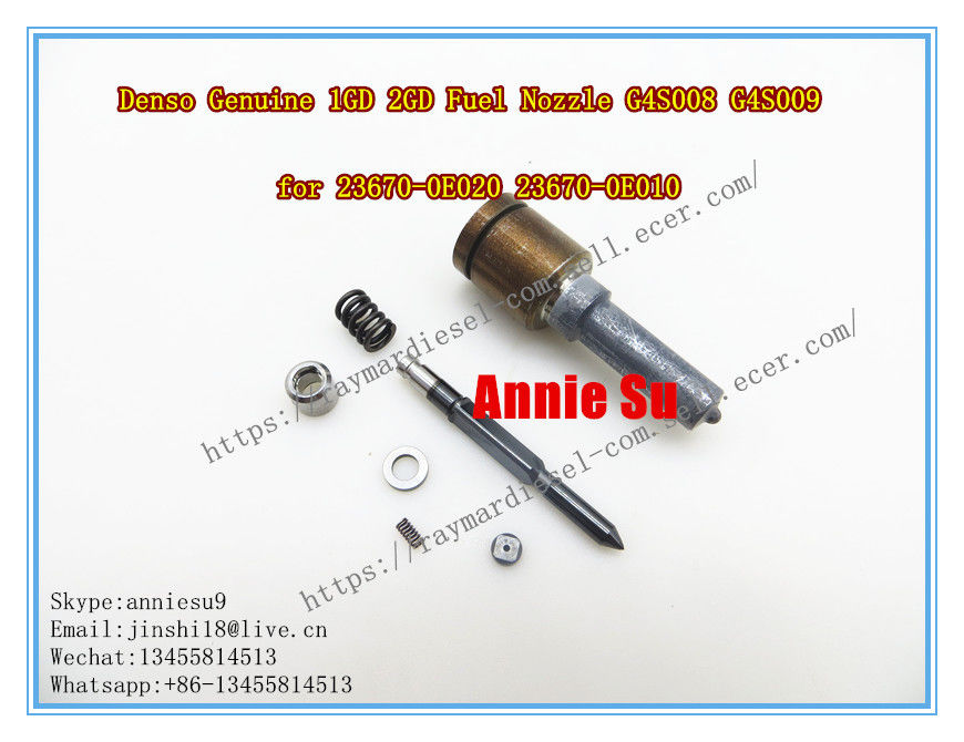 DENSO GENUINE AND BRAND NEW 1GD 2GD FUEL PIEZO INJECTOR NOZZLE VALVE REPAIR KIT G4S008 G4S009 FOR 23670-0E010, 23670-0E0