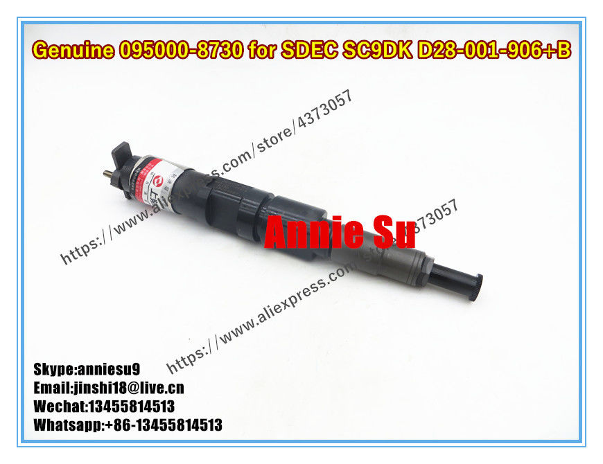 Denso Genuine Common Rail Fuel Injector 095000-8730 for SDEC SC9DK D28-001-906+B