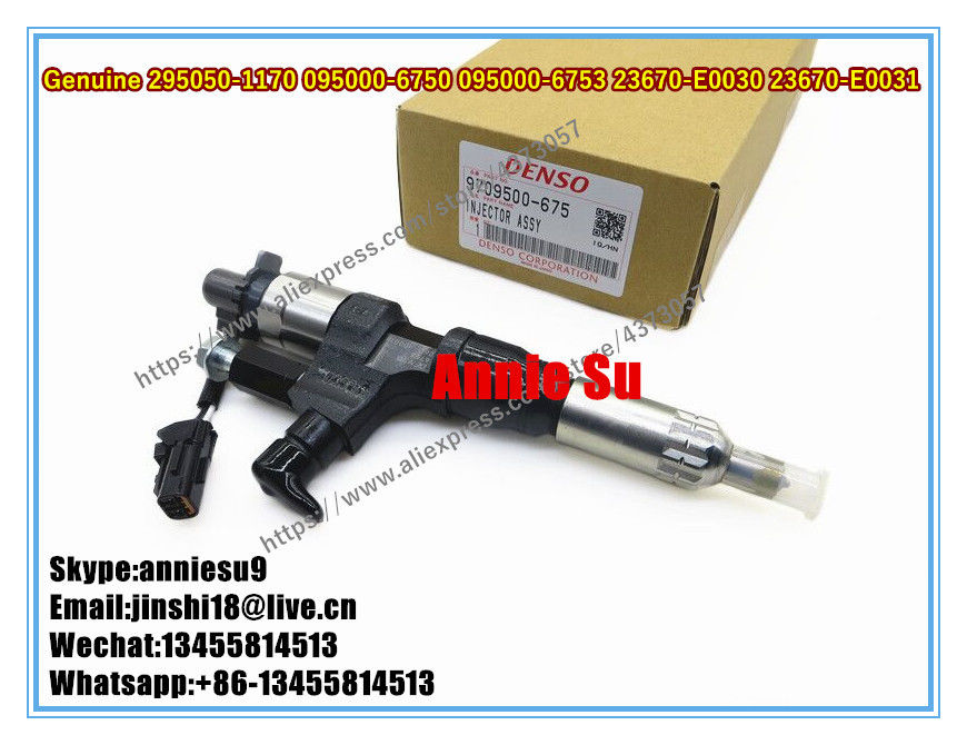 Denso Genuine Fuel Injector 295050-1170, 095000-6750, 095000-6751, 095000-6752, 095000-6754, 23670-E0030