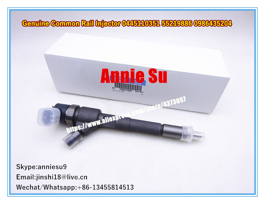 Bosch Genuine Common Rail Injector 0445110351 55219886 0986435204 for Alfa Romeo MITO 1.3 JTD, Fiat and  Lancia Musa