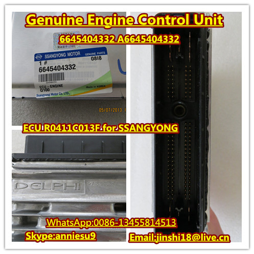 Delphi Genuine ECU R0411C013F for SSANGYONG D20DT EURO III Engine 6645404332 A6645404332