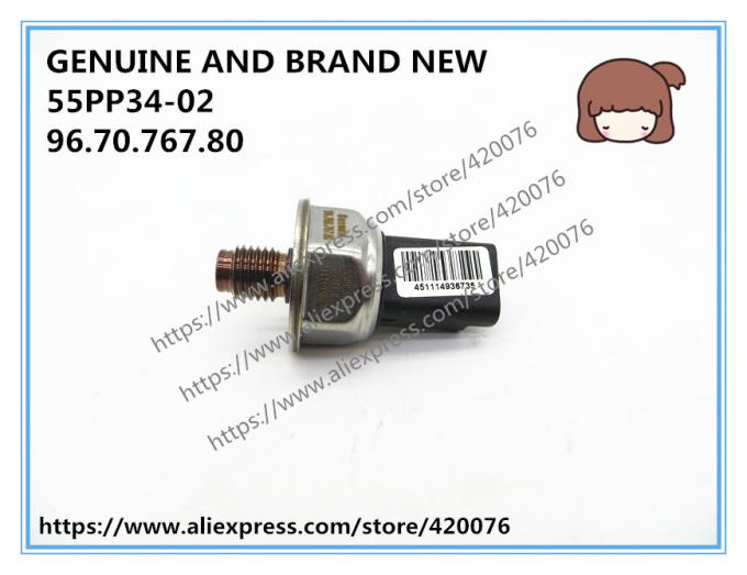 GENUINE AND BRAND NEW FUEL RAIL PRESSURE SENSOR 55PP34-02, 9670076780 FOR PEUGEOT 206, 208 1.4L 1.6L ENGINE