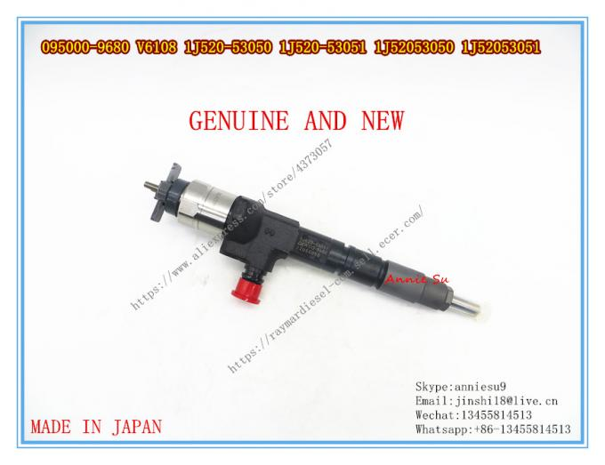 Denso Genuine  Common Rail Injector 095000-9680 For KUBOTA V6108 1J520-530501J520-53051, 1J52053050, 1J52053051
