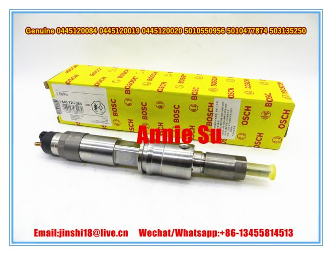 Bosch Genuine Common Rail Injector 0445120084 0445120019 0445120020 for RENAULT 5010550956 5010477874, IVECO 503135250